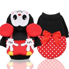 Funny Cartoon Dog Clothes Winter Warm Dogs Coat