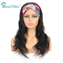 Headband Wig Hair Women Black 180-Density Brazilian for Panse Remy