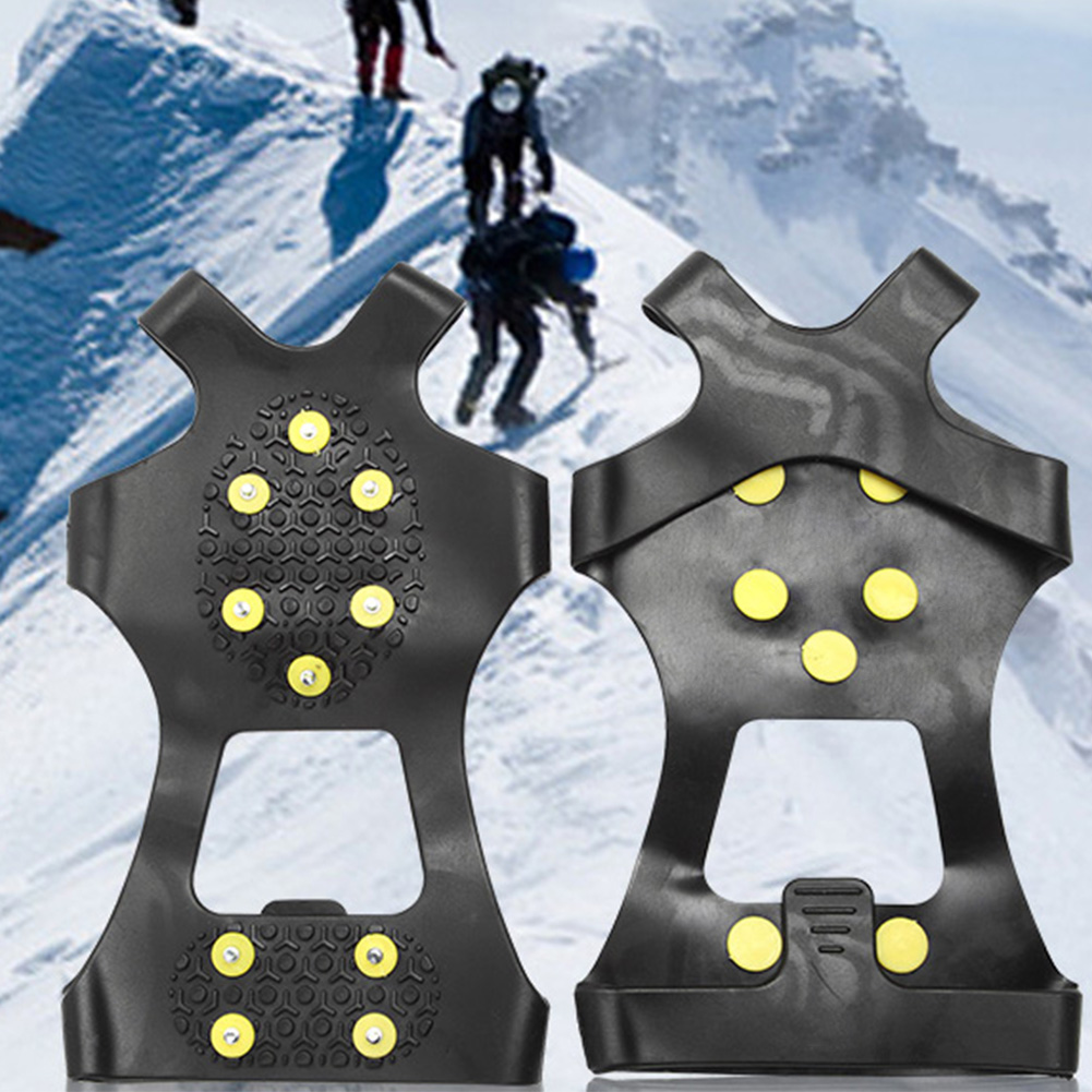 10 Studs Anti-slip Snow Ice Climbing Shoe Spikes For Winter Sports For Hiking Ice Grip Rustproof Spikes Snow Grip Traction Cleat