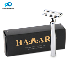 HAWRAD RAZOR New High Quality Stainless Steel Men's Double-edged Razor Facial Safety Razor Free 10 Blades Gifts For Him