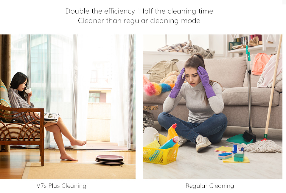 H4b3c4488348240e8a7bac8ced66d2d889 ILIFE V7s Plus Robot Vacuum Cleaner Sweep and Wet Mopping Disinfection For Hard Floors&Carpet Run 120mins Automatically Charge