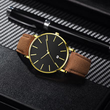 Mens Watches 2020 Men Watch Top Brand NO LOGO Leather Steel Mesh Quartz Waterproof Date Business Wristwatch Relogio Masculino(China)