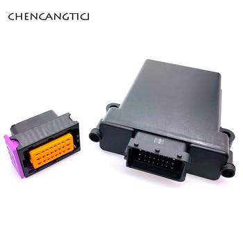 цена на 1 set 24 pin way plastic automotive ecu pcb enclosure box case with mating male and female fci connectors
