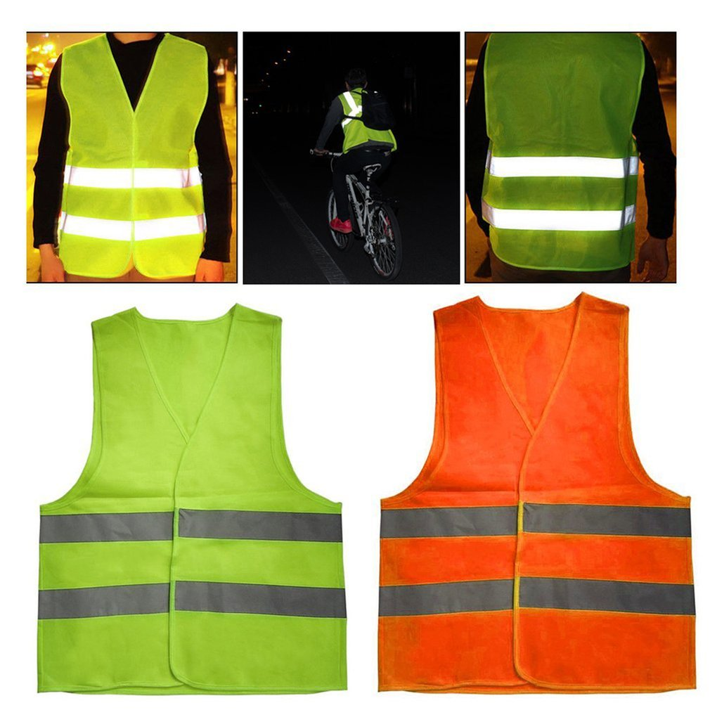 Reflective Warning Vest Workwear High Visibility Day Night Protective Vest For Running Cycling Warning Safety Vest