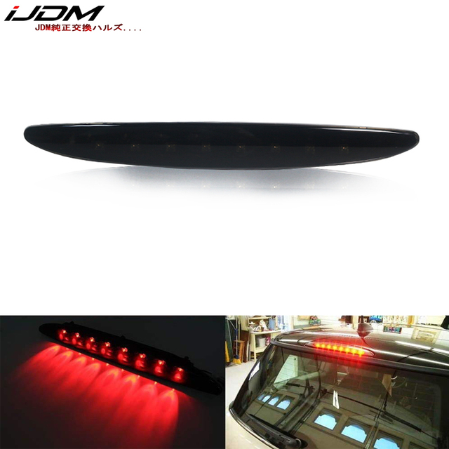 IJDM lente ahumada LED roja, 3ª lámpara de freno para MINI Cooper R50 R53 1ª generación, ajuste OEM, luz de freno de montaje alto