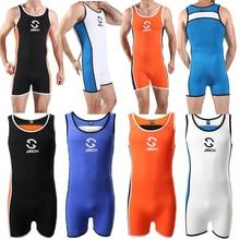 Sexy Mens Undershirts Shorts Leotard Sports Fitness Wrestling Singlet Bodysuits Swimwear Jumpsuits Overalls Underwear Sleepwear