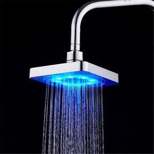 Светодиодный высокотемпературный спрей/цветная светящаяся меняющая цвет 6-дюймовая Большая душевая головка