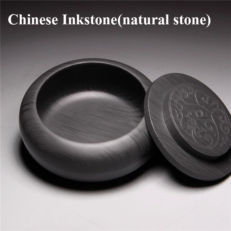 Chinese 4 Treasures Inkstone Natural Stone Inkslab For Calligraphy And Painting Student Inkslab She Yan Tai