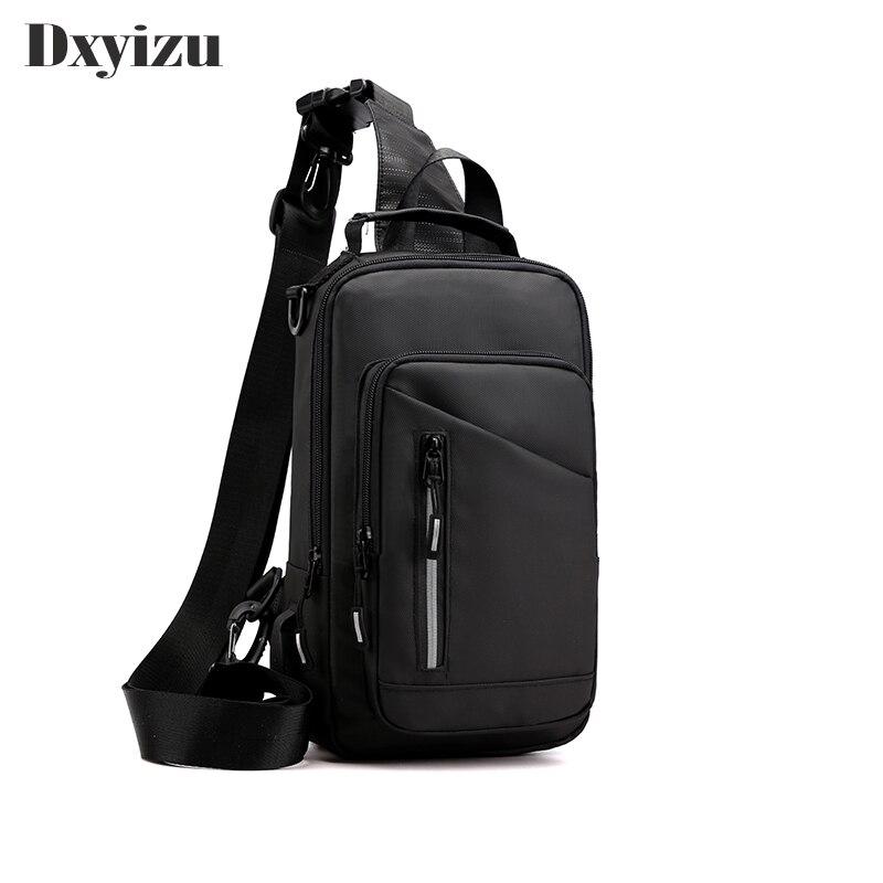 Men's Chest Bag Phone Pocket Messenger Sports Multi-function Men Shoulder Handbag Personal Shoulder Anti-theft Bags