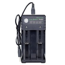 цена на 18650 Charger Single Double 4 Slot 3.7v Battery Charger Multifunction Charge Universal Flashlight Charger