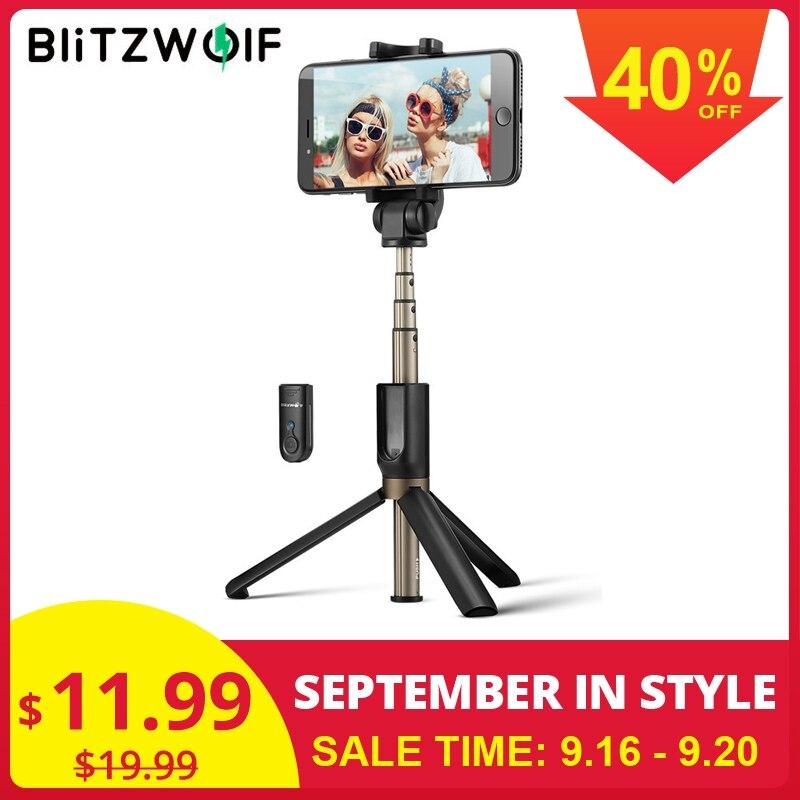BlitzWolf 3 In 1 Wireless Bluetooth Selfie Stick Mini Tripod Extendable Monopod Universal For IPhone 11 X 8 7 For Xiaomi Huawei