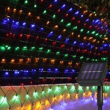 Light Mesh-String Window-Curtain Solar-Net LED Christmas 2X3M 204