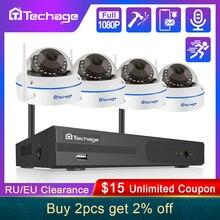 Techage 8CH 1080P Wireless NVR Kit CCTV Security System Audio Record 2.0MP Indoor Dome WiFi IP Camera P2P Video Surveillance Set
