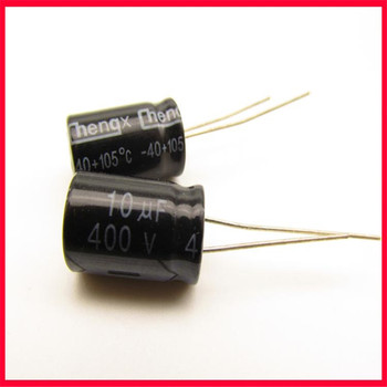 New 400V10UF electrolytic capacitor 10UF/400V volume 10*17 foot pitch 4.5mm image