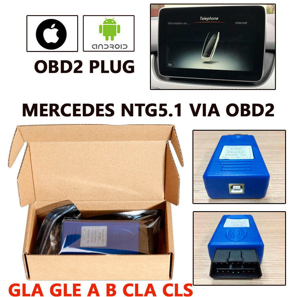 NTG5s1 NTG5 S1 Carplay&Android Auto OBD Activator Tool For Iph0ne5/6/7 Plug In And Immediately Works Fully Functional VIM TV Fre