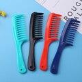 Анти-статический парикмахерские расчески с двойным рядом камней зуб парикмахерские ножницы, скользящая по волосам расчески для салона вол...