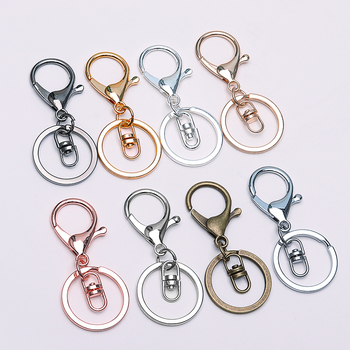 5pcs Key Ring lobster clasp key Hook With Chain 30mm Key Ring Long 70mm Split Key Ring Keychain For DIY Supplies Jewelry Making 10pcs lot 25 28 30mm gold round key ring llaveros clasp findings key chain split ring plated key ring for jewelry making