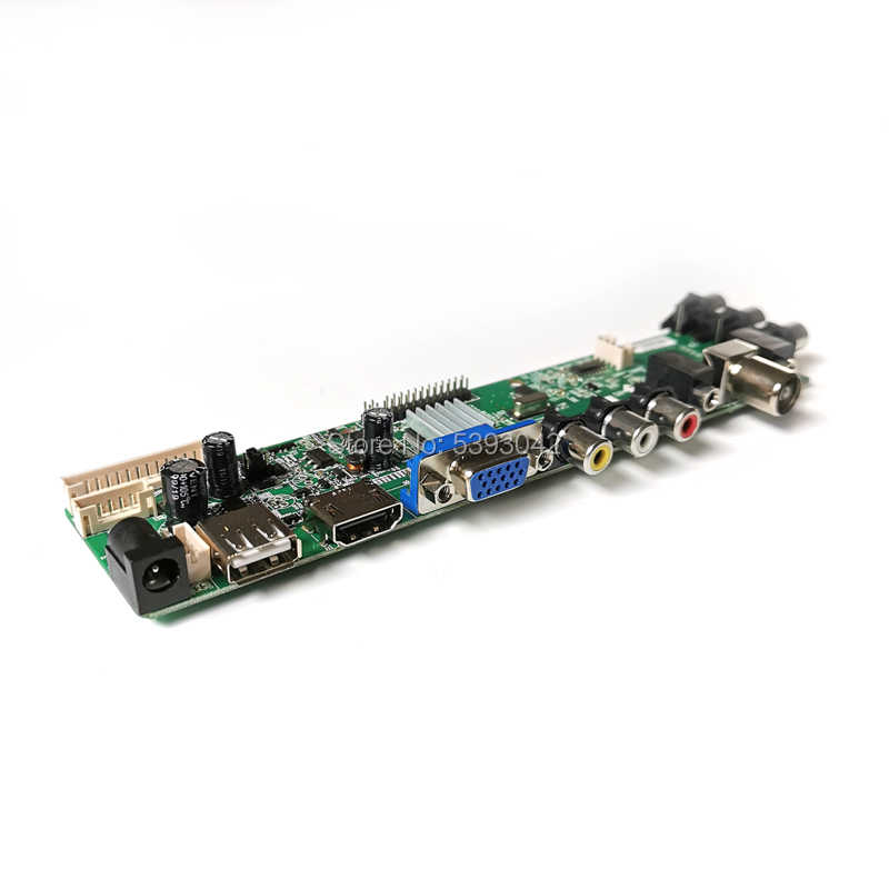 Fit LTN184HT01-A01/A02/F01/F02/S01/T01/T02 2 Ccfl DVB-C Av Hdmi Usb digitale 3663 1920*1080 30Pin Lvds Scherm Controller Board Kit
