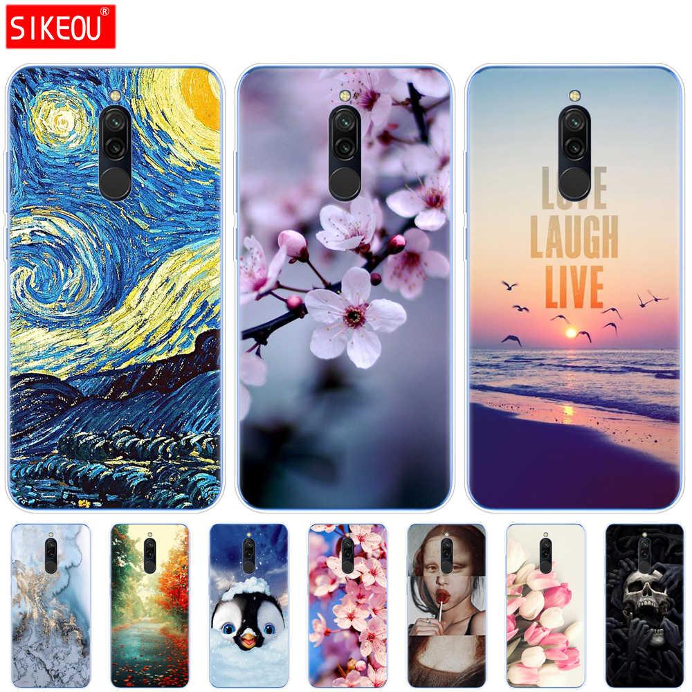 Ốp Lưng Silicon Cho Xiaomi Redmi 8 Trường Hợp Bảo Vệ Đầy Đủ Mềm TPU Nắp Lưng Redmi 8 Ốp Lưng Hongmi 8 Điện Thoại Vỏ túi Coque Mèo