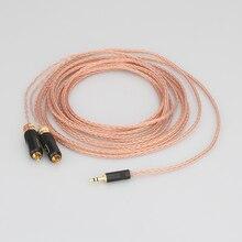 Wysokiej jakości 2 rca do 3.5MM hifi 1 do 2 kabel audio wideo z czystym miedzianym kablem Audio OFC