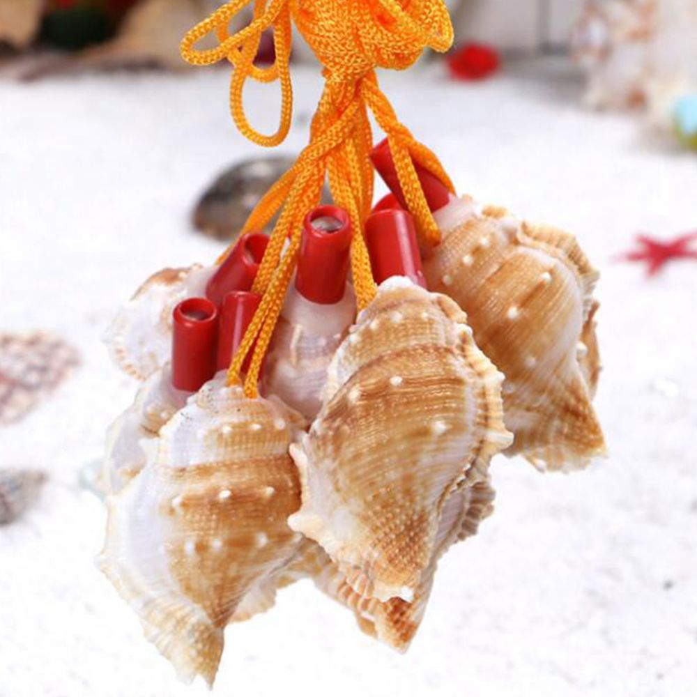 Natural Conch Whistle Pendant Necklace Shell Conch Snail Blowing Whistle Toy Children's Survival Tool Souvenir Instrument Crafts
