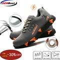 Chaussures de sécurité en acier pour orteils hommes femmes maille respirante industrielle et Construction bottes de travail anti-crevaison chaussures chaussures de protection