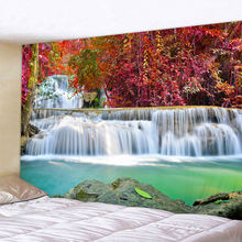 Декоративные Мандала лесной водопад настенный гобелен в богемном