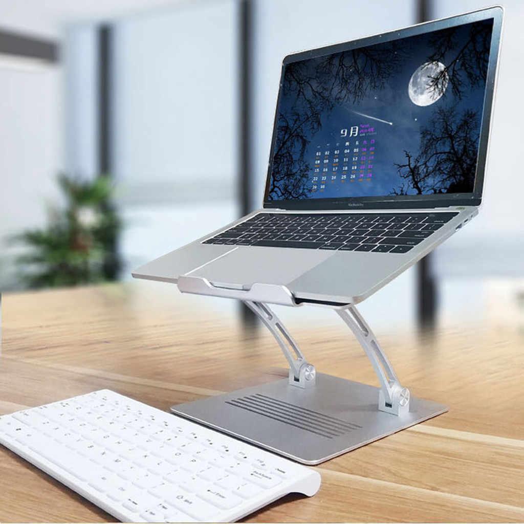 Carprie Portable Adjustable Aluminium Notebook Laptop Pemegang Foldable Lift Berdiri Desktop Stand Komputer