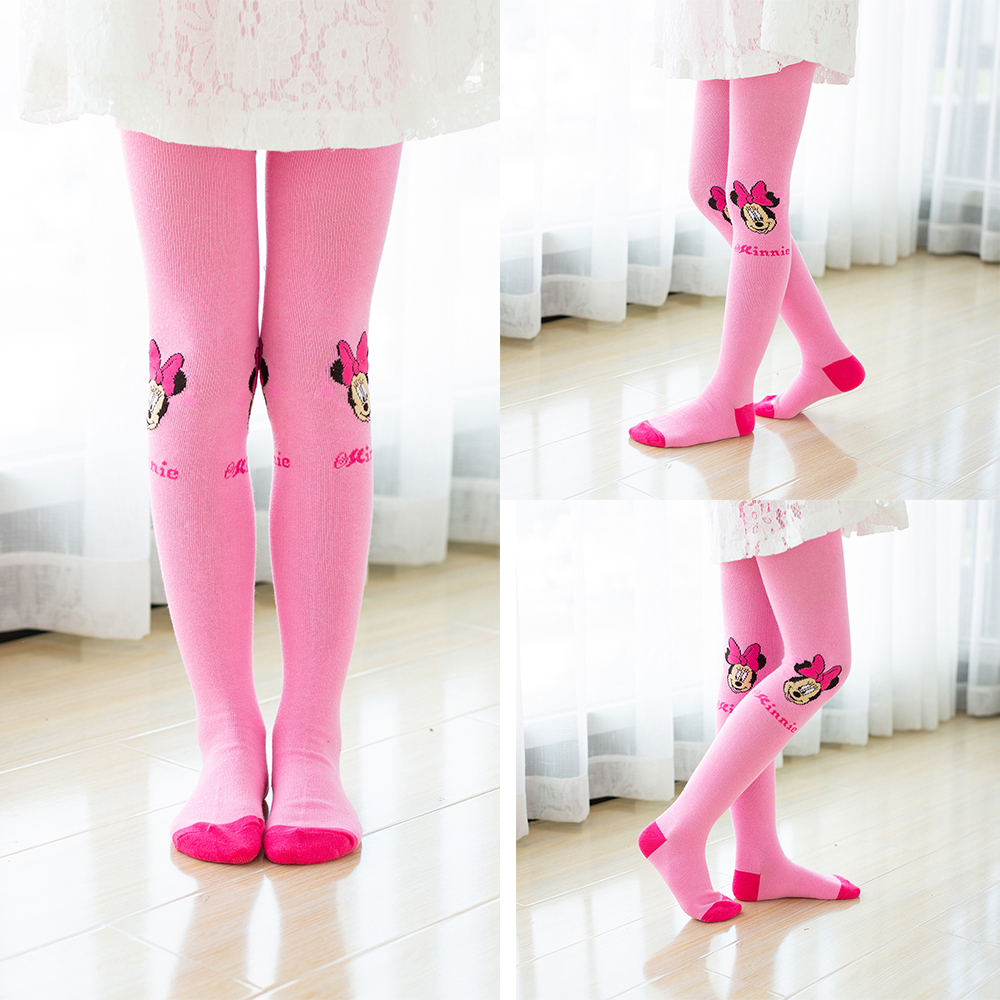 Disney Tights for Girls Cute Pink Mickey Mouse Cartoon Pantyhose Girls Cotton Children Tights Stockings Pantyhose Baby Girl 5