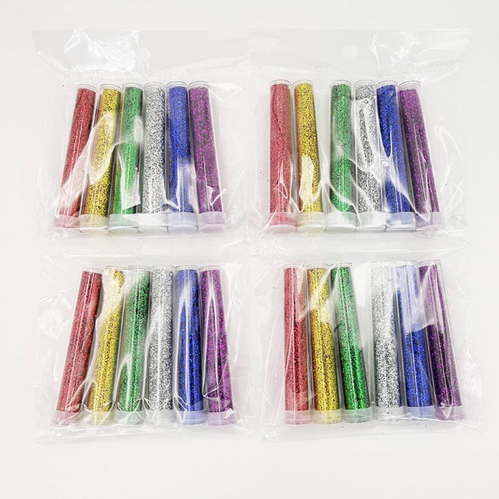 6pcs Glitter Shake Jars Set Kit Extra Fine Glitter Art Supply DIY Handmade Slime Kit For Scrapbooking Party Crafts