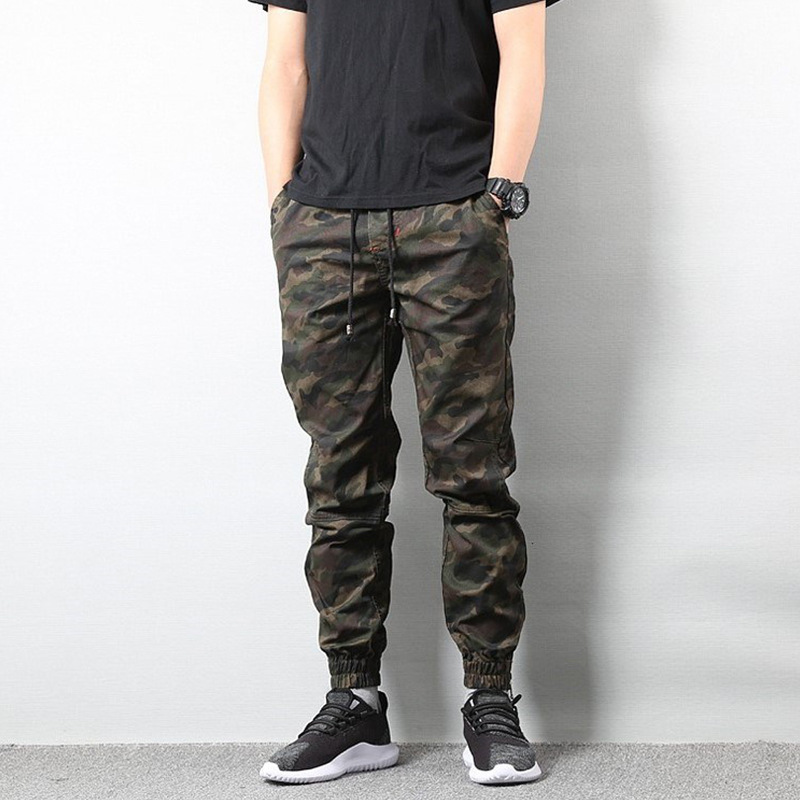 Enshadower Popular Brand Casual Pants Skinny Pants Camouflage Ankle Banded Pants Bib Overall Shawn Trousers Large Size MEN'S Tro