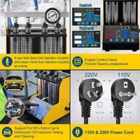 AUTOOL CT150 Original Car Fuel Injector Tester Cleaning Machine Motorcycle Fuel Injector Tester Cleaner 4 Cylinders 2