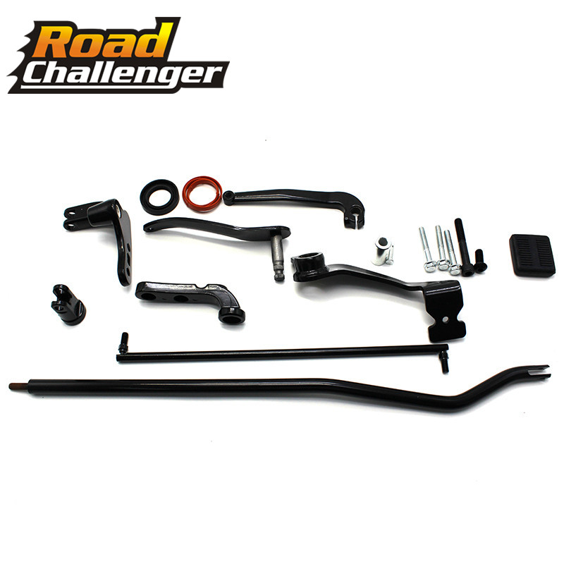 Black Motorcycle Forward Controls Complete Kit Levers Linkages For Harley Dyna Street Bob 2006-2017 FXDB Model