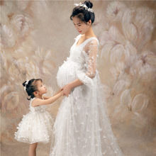 HIgh quality Pregnant Dress Maternity Dress for Photography Shoot Wedding Off-shoulder for Pregnant Women(China)