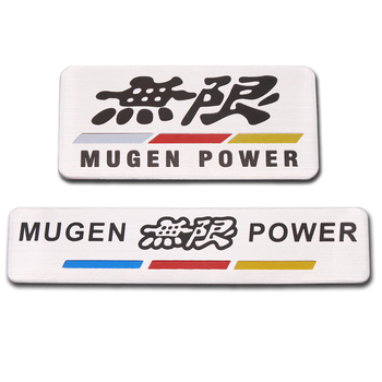 1PCS Car-Styling Aluminum Red MUGEN POWER Auto Car Sticker Emblem Chrome Logo Rear Badge for HONDA Civic Accord S2000 CR-V metal 3d car feder trunk sticker vtec logo badge decal chrome accessories for honda civic accord odyssey spirior crv car styling