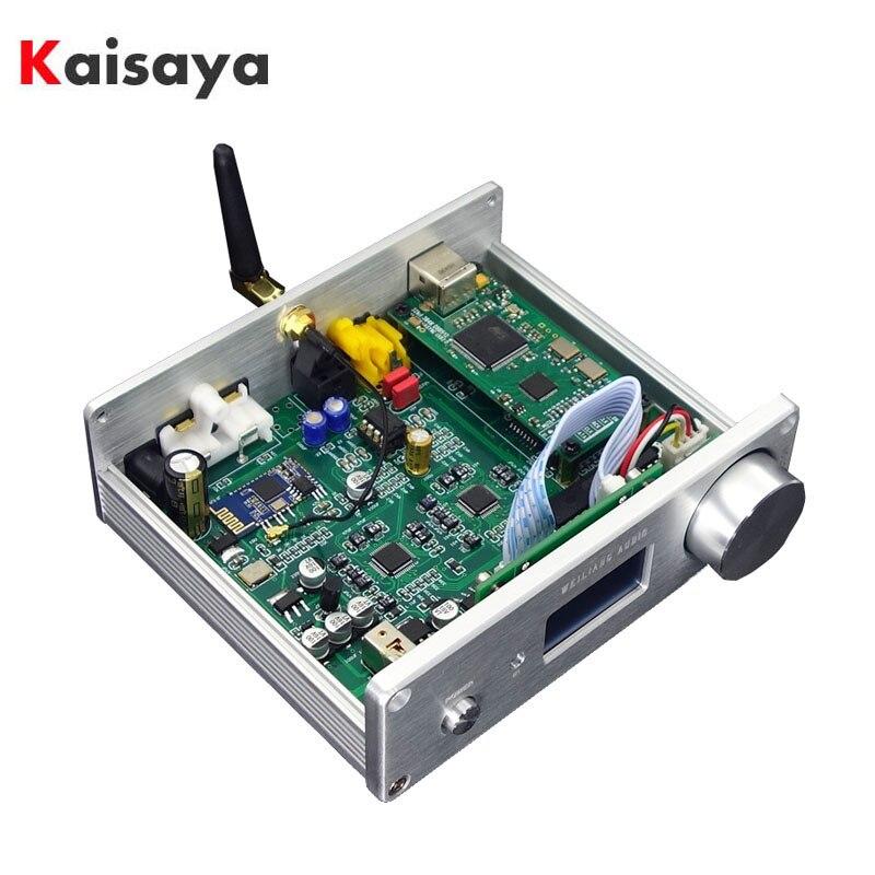 AK4493EQ DSD DAC Bluetooth 5.0 APTX-HD lecteur sans fil Coaxial fibre DAC prise en charge XMOS Amanero USB avec écran OLED T0804