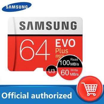100 oryginalny SAMSUNG karta micro sd 64 GB u3 karta pamięci EVO Plus 64 GB Class10 TF karta C10 80 MB S MICROSDXC UHS-1 darmowa wysyłka tanie i dobre opinie Class 10 Tf micro sd card 64GB Mobile phone Smartphone Tablet etc 15x11x1(mm) Approx 0 5g up to 80MB s up to 20MB s