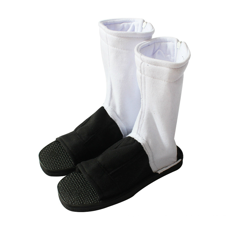 Cosplay Akatsuki Nanja Uzumaki Sakura Sasuke Black and white Cotton Soft Sandals Ninja Boots Kakashi Shoes  women men