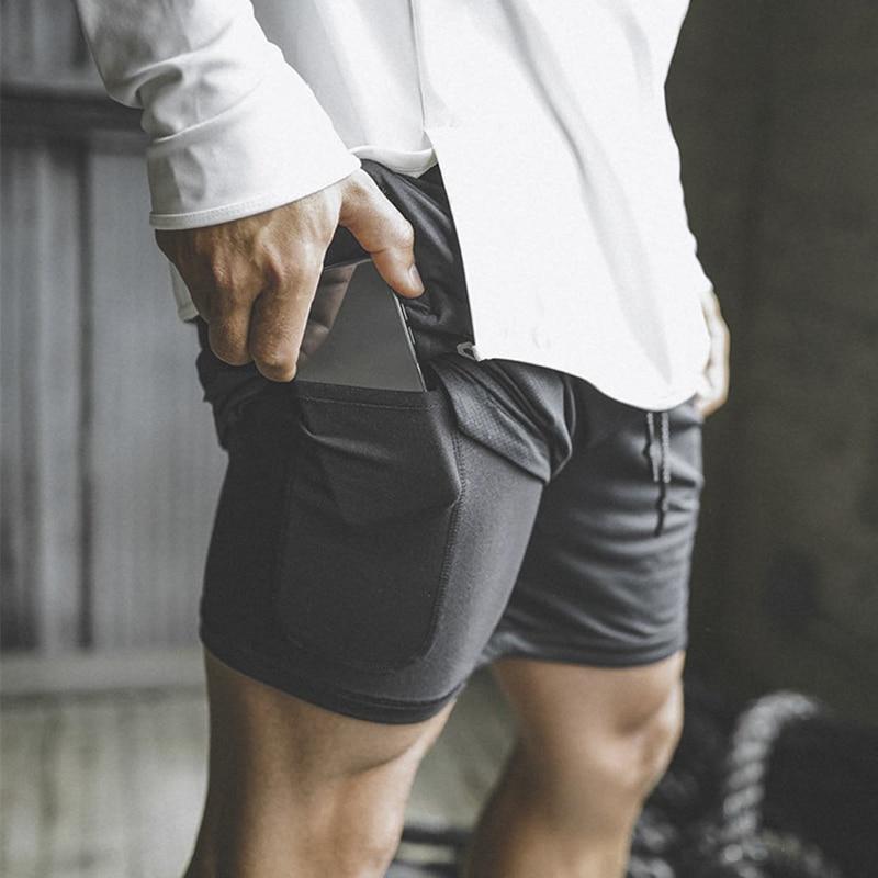 Pro Running Shorts Men Summer Gym Shorts Fitness Sport Shorts Men 2 Pieces Jogging Training Wortout Sports Short Pants Rashgard