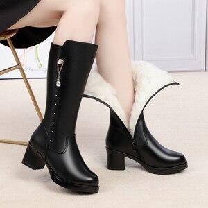 Image 5 - AIYUQIฤดูหนาวรองเท้าผู้หญิงรองเท้าหนังแท้รองเท้าหนังผู้หญิงรองเท้าผ้าขนสัตว์รองเท้าบู๊ตหิมะกันน้ำอุ่นหญิงHigh Boots
