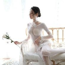 Порно и Эротика костюмы для женщин прозрачное белое черное пикантное женское белье кружевное милое женское нижнее белье с носками и воротником Babydolls