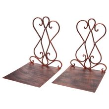 1 Pair Portable Metal Bookends Book Stand Holder Desktop Rack Shelf For Home Office Supplies creative 1 pair wooden bookends with pen holder kawaii bookshelf retractable bookstore shelves book office stationery supplies