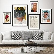 Couverture en Vogue Vintage, photographie de beauté, affiche de Magazine de mode, toile, peinture murale, image d'art, décoration de maison