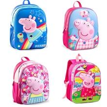 NEW Peppa Pig George School bag Package Shoulder Backpack Packet Bag Single Shoulder Bag Cartoon pattern Action figure Gift цены онлайн