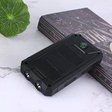 DIY чехол для солнечной батареи 2 usb порта Внешнее зарядное устройство чехол для аварийного наружного кемпинга путешествия с компасом power ban