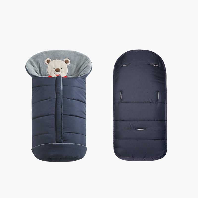 Image 2 - Śpiworki dziecięce do wózka spacerowego zimowe grube ciepłe rożek dla noworodka niemowlę wiatroodporny kokon wózek Sleepsacks Foo FooTorby do spaniaMatka i dzieci -