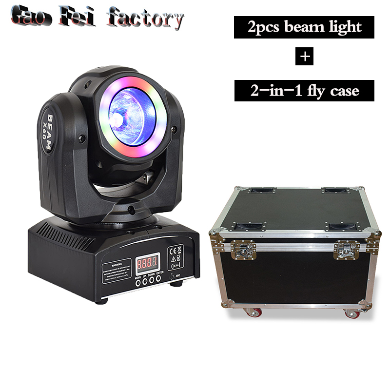 Pocket Moving Head LED 60W Beam With Wash RGBW 4IN1 Light With 2in1 Fly Case