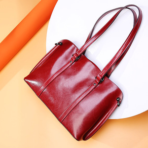 Image 5 - Dienqi saffiano sacos senhoras couro genuíno bolsa de ombro feminino luxo bolsas de couro real grande boston messenger bags vermelho