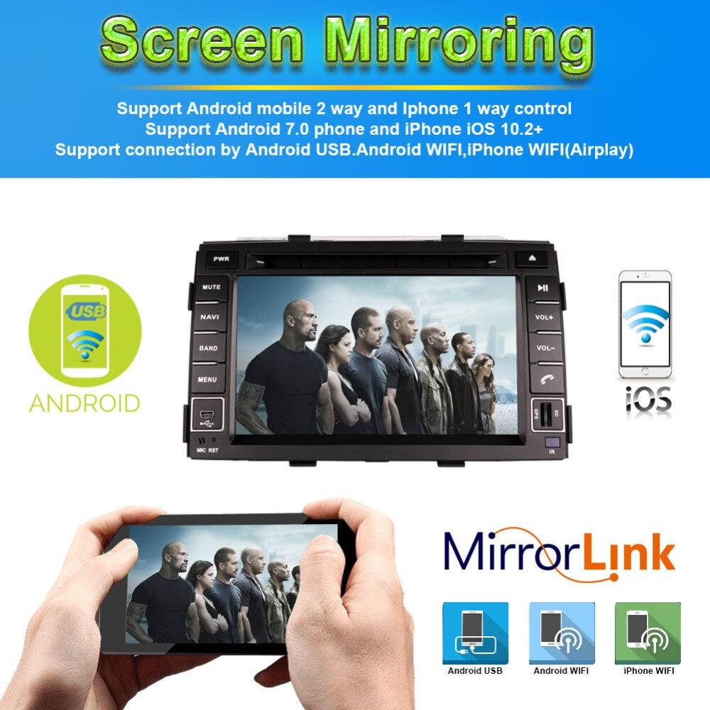 4G android 9,0 автомобильный dvd для kia sorento 2010 2012 в dash автомобильный стерео gps головное устройство магнитофон автомобильный мультимедийный плеер - 2