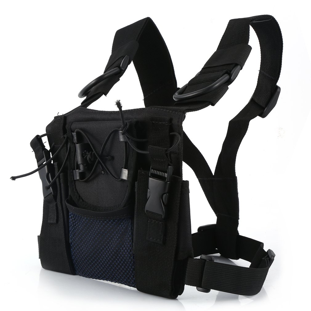 Radio Harness Chest Front Pack Pouch Holster Carry Bag For Baofeng UV-5R UV-82 UV-9R BF-888S TYT For Motorola Walkie Talkie